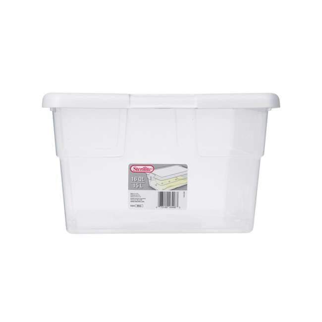 60 x 16448012-U-A Sterilite 16 Quart Storage Sweater Tote Box Container Tub (Open Box) (60 Pack) 1