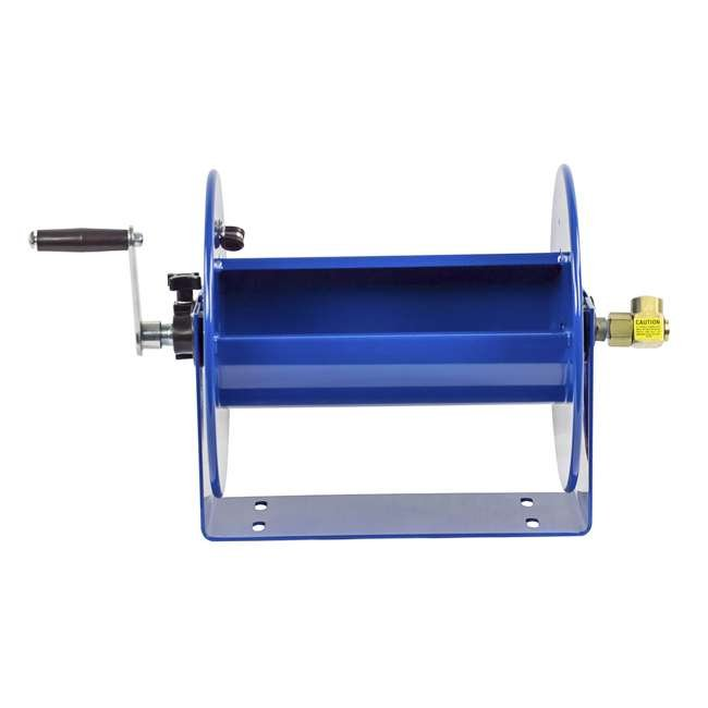 112-3-150 Coxreels 100 Series Compact Hand Crank Water and Air Hose Reel, Blue 7