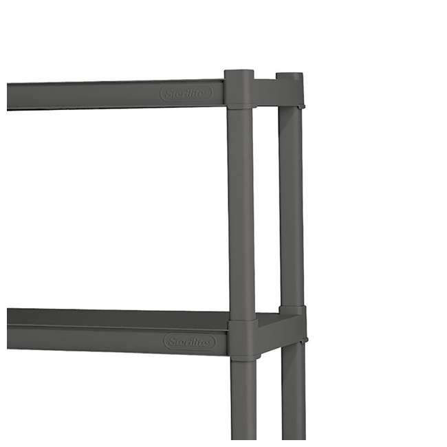 12 x 01643V01 Sterilite 4-Shelf Gray Shelving Unit, Flat Gray (12 Pack) 3