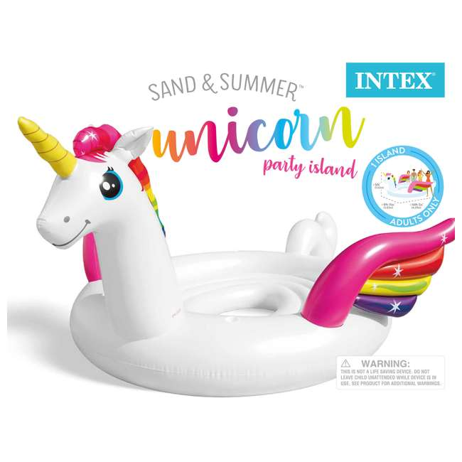 57296EP Intex 57296EP 14ft x 9ft Giant Inflatable Unicorn Pool Lake Party Island Float 4