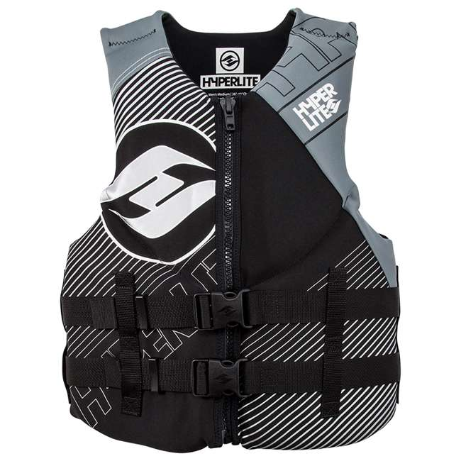 86000124-HO HO Skis 86000124-HO Hyperlite Mens Medium Indy Life Vest with Flex Zones, Gray
