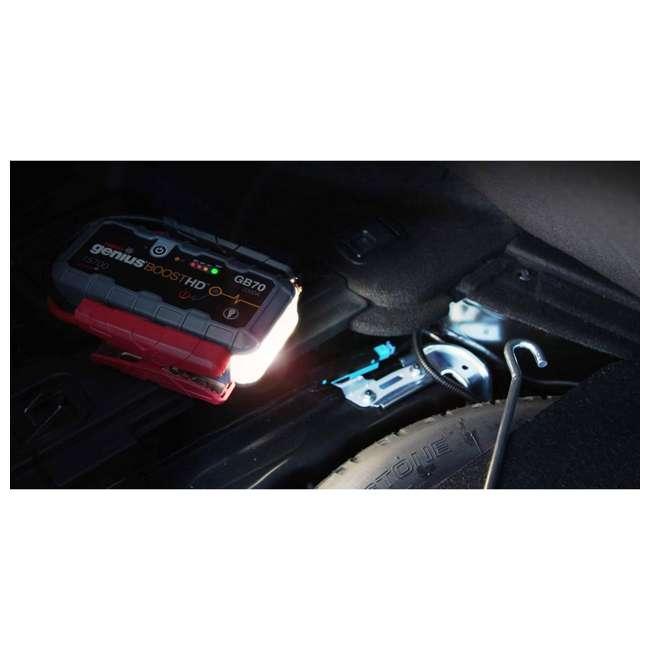 GB70 Noco Genius GB70 Boost HD 2000-Amp UltraSafe Jump Starter 5