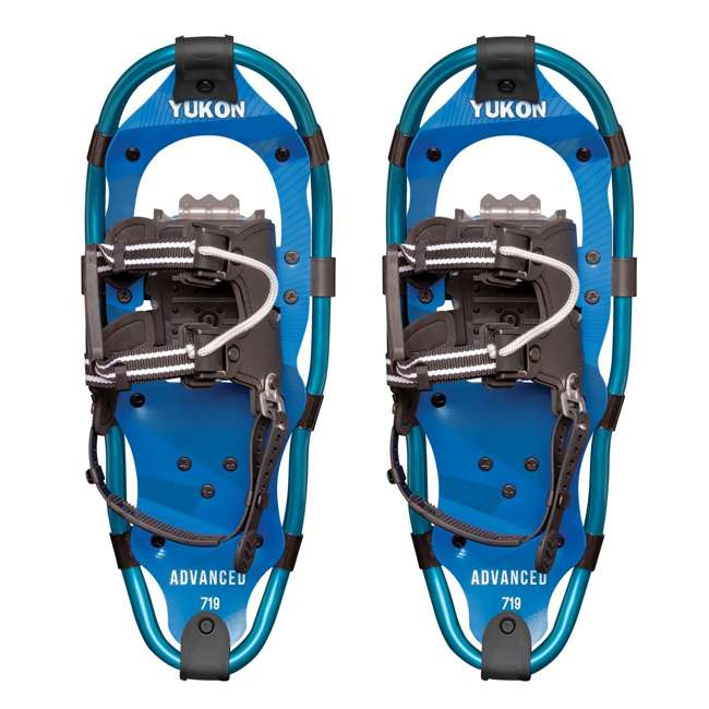 80-3021 Yukon Charlie's 80-3022 Advanced 7x19 Youth Backcountry Hiking Snowshoes, Blue