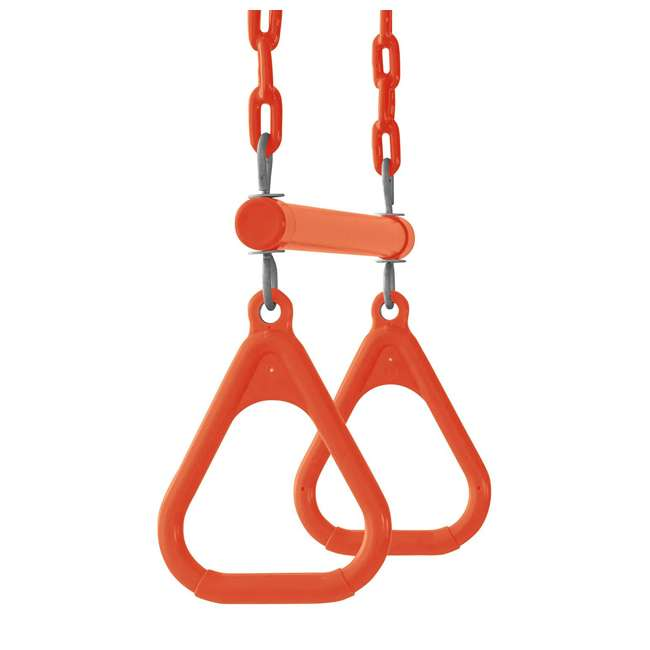 SWTSC-OR Swingan SWTSC-OR Fully Assembled Vinyl Coated Chain Trapeze Swing Bar, Orange 2