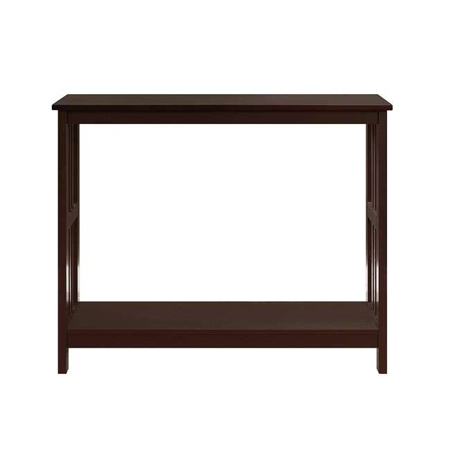 S20-249 Convenience Concepts Mission Wooden Painted Console Table, Espresso 1