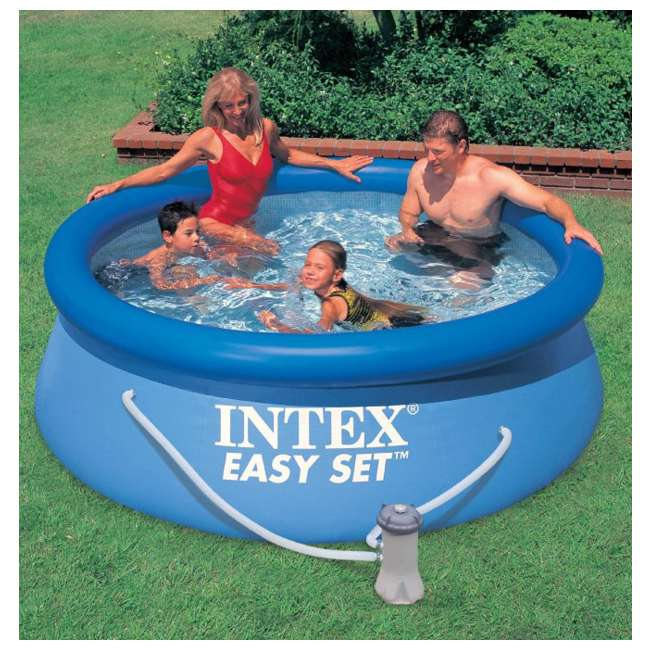 intex 8 39 x 30 easy set swimming pool 330 gph filter. Black Bedroom Furniture Sets. Home Design Ideas