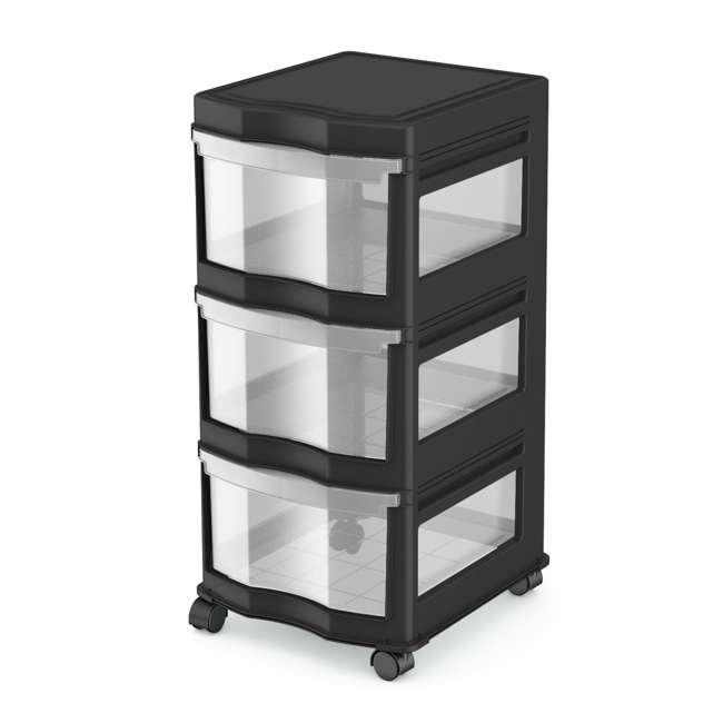 3 x DRW3-M-BL Life Story Classic 3-Shelf Storage Organizer Drawers, Black (3 Pack) 1