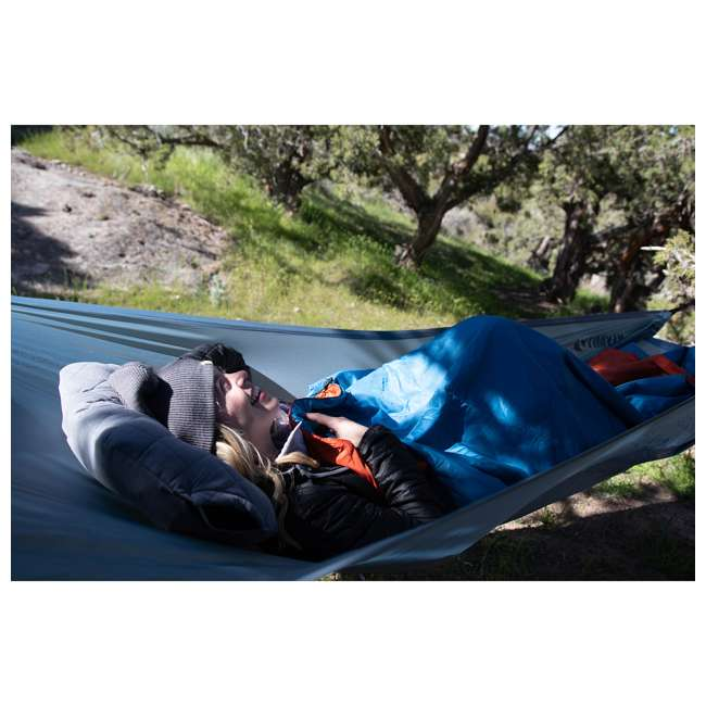 09LHBL01C Klymit 09LHBL01C Lay Flat Outdoor Camping Hammock with Adjustable Dual Straps 3