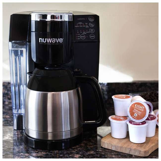 NW-45011 [Copy 1] NuWave BruHub Single Serve/Full Pot Smart Coffee Maker Brewer Machine System  4