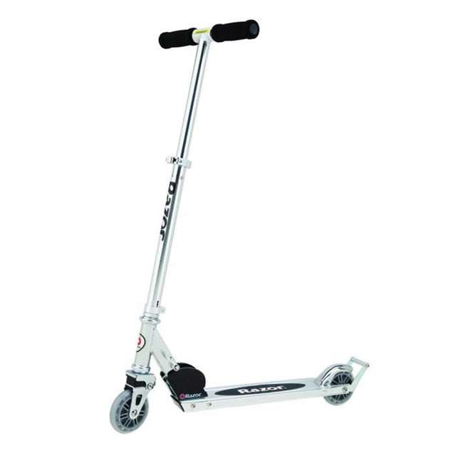 13003A2-RD + 13003A2-CL Razor A2 Kid Folding Aluminum Portable Kick Push Scooter w/ Wheelie Bar (2 Pack) 2