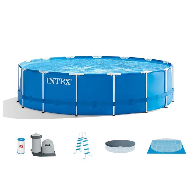 Intex 15 39 X 48 Metal Frame Above Ground Pool Set 28241eh
