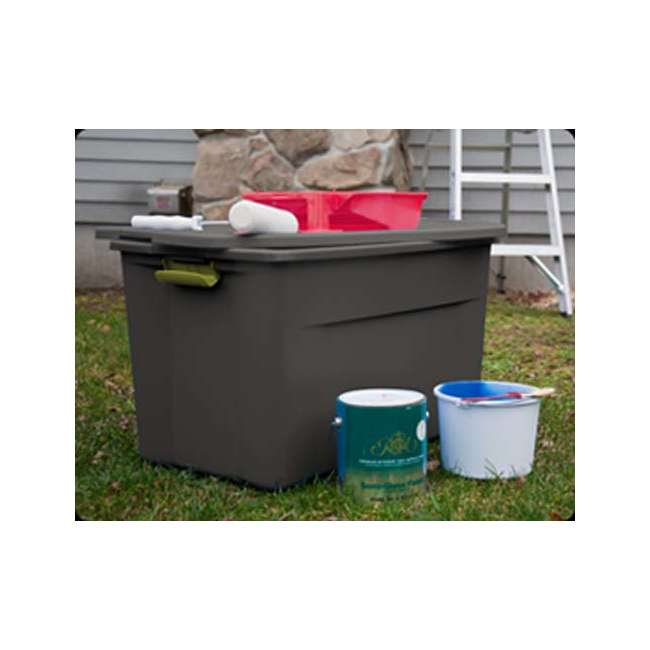 4 x 19453V04-U-A Set of 4) Sterilite 19451004 35 Gallon Storage Tote Box Latching Lid (Open Box) 3