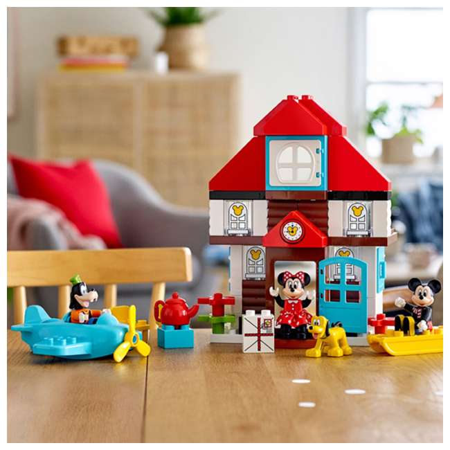 6250698 LEGO DUPLO 10889 Disney Junior Mickey's Vacation House Building Kit w/ 4 Figures 5
