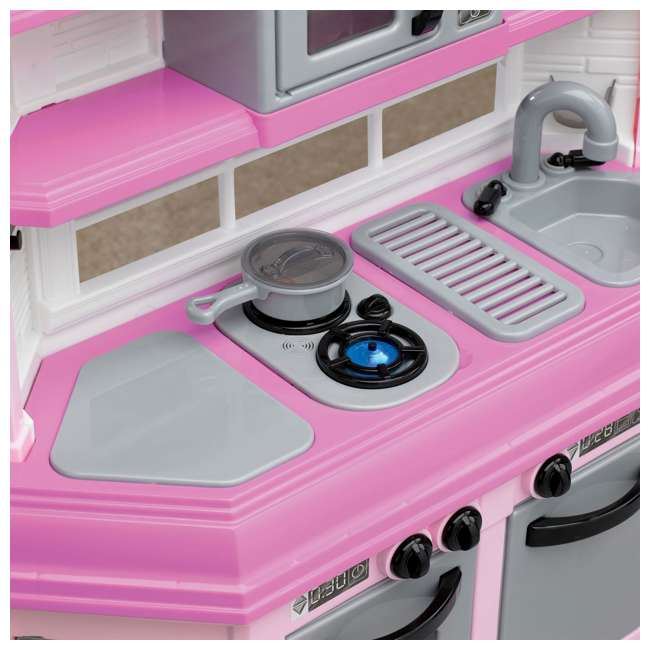 APT-11950 American Plastic Toys Kids Pink First Very Own Custom Kitchen Role Play Toy Set  3