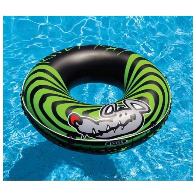 9 x 68209EP INTEX River Rat Inflatable Floating Tube Raft (Open Box) (9 Pack) 3