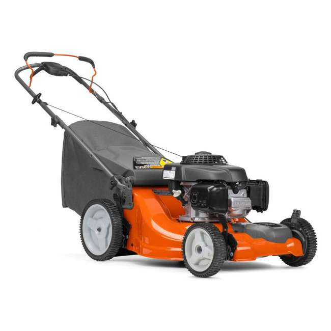 HV-WB-961450036 + HV-TOY-589289601 Husqvarna Walk Behind 21 Inch Self Propelled Gas Mower + Kids Toy Lawn Mower 1