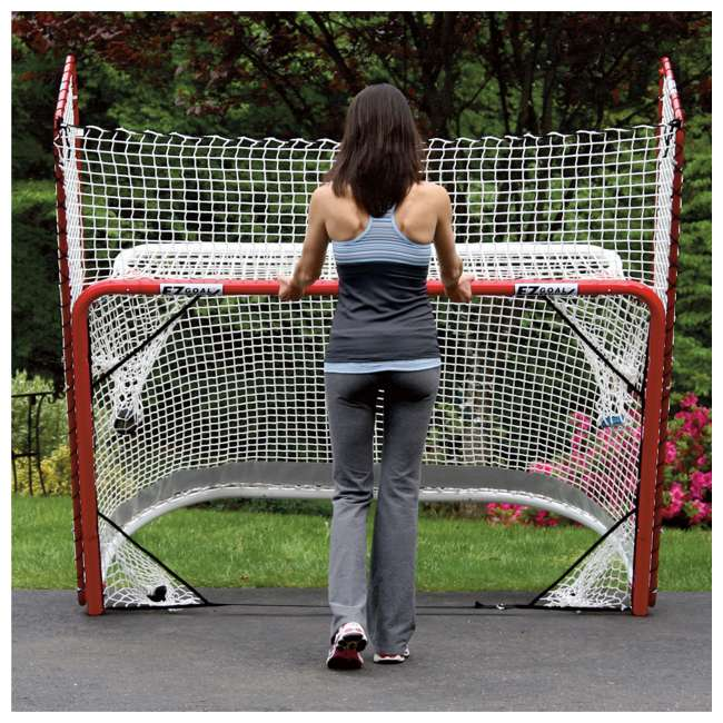 NEOP-67008 EZ Goal Portable Folding Regulation Size Hockey Training Goal Net with Backstop 3
