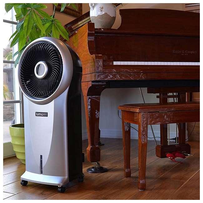 4 x EC110S-U-A Luma 250 Sq Ft 3 Speed Evaporative Cooler w/ Remote, Silver (Open Box) (4 Pack) 3