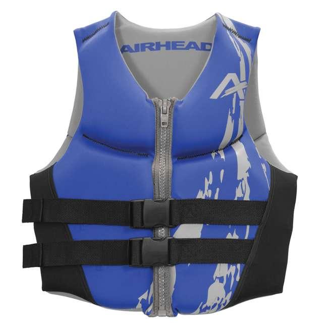 10 x 10076-09-B-BL Airhead Swoosh Neolite Adult Medium Life Vest, Blue (10 Pack) 1