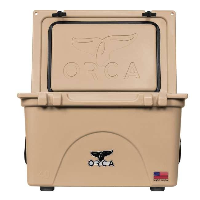 ORCT040 ORCA 40-Quart 8.3-Gallon Ice Cooler, Tan 4
