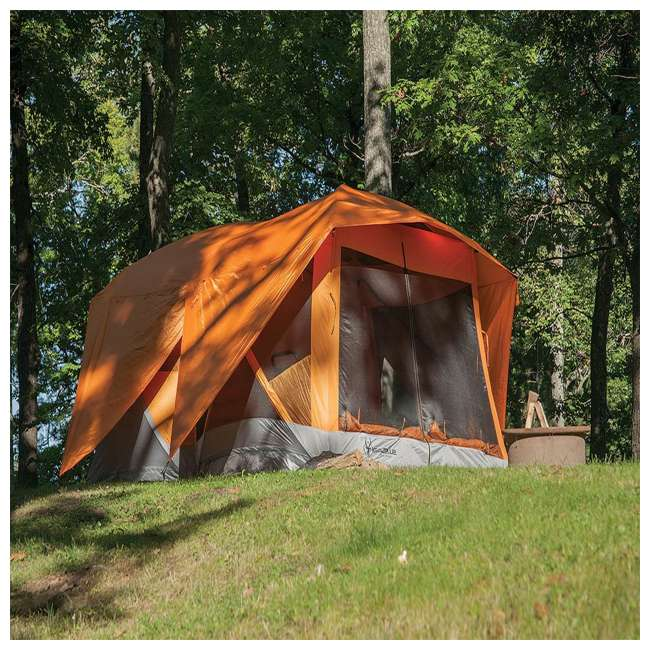 GAZL-26800-U-B Gazelle Tents T4 Plus Outdoor Pop Up 8 Person Hub Tent with Screen Room, Orange