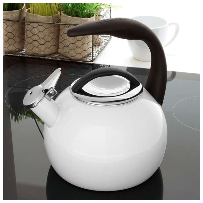 37-ANN-WT Chantal 2-Quart Enamel-On-Steel Anniversary Teakettle, White (2 Pack) 2