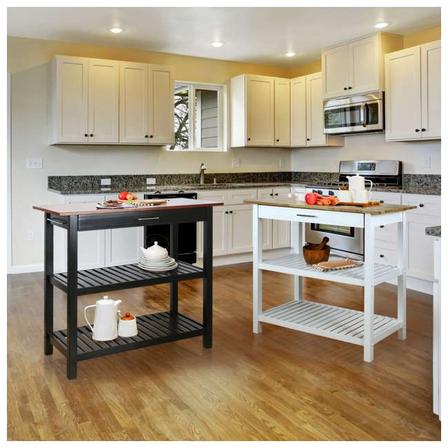 373-92 Casual Home Kitchen Island, Walnut 8