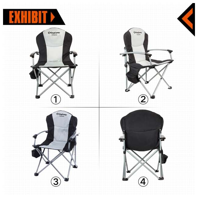 KC398700020000 KingCamp Heavy Duty Steel Padded Camping Director Folding Chair with Cooler Bag 1