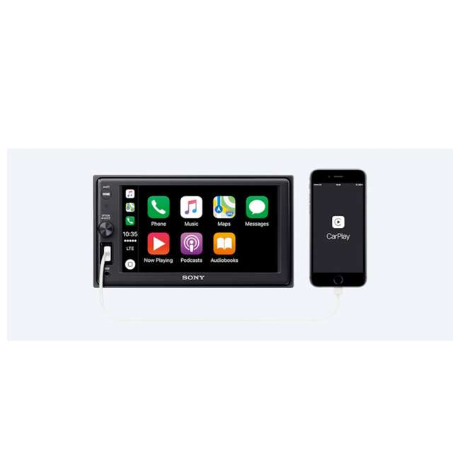 "XAVAX1000 Sony Apple CarPlay Bluetooth 6.2"" In-Dash Digital Stereo Receiver 2"