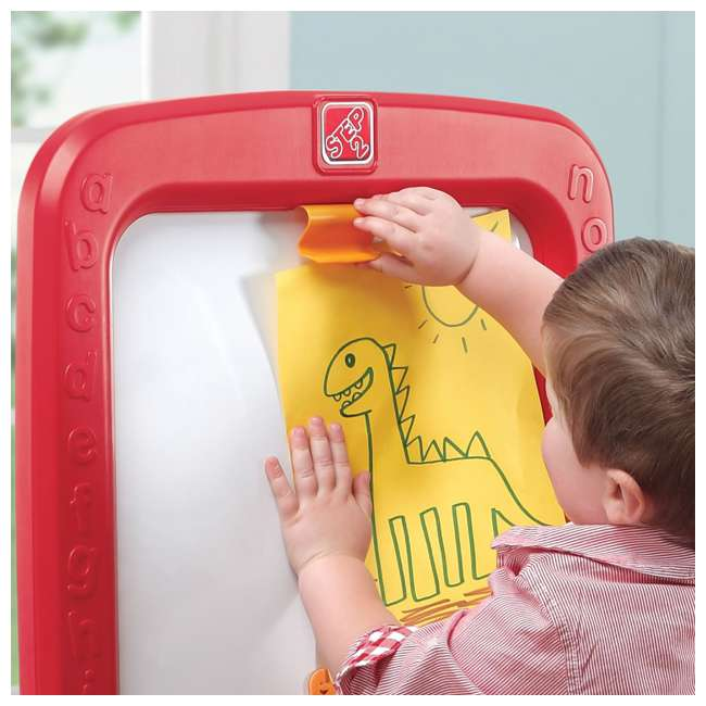 826800 Step2 All Around Easel for Two Kids Dry Erase Chalkboard Easel 3