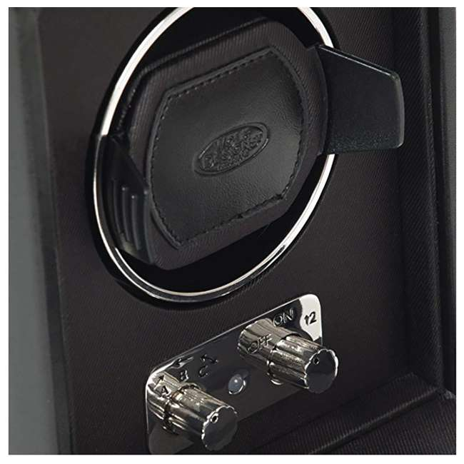 270002 WOLF 270002 Heritage Compact Electric Single Watch Winder with Cover, Black 3