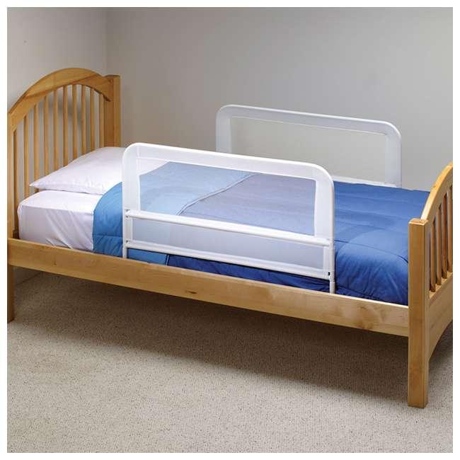 BR303 KidCo Telescopic 2-Pack Children's Bed Rail, White (2 Sets) 3
