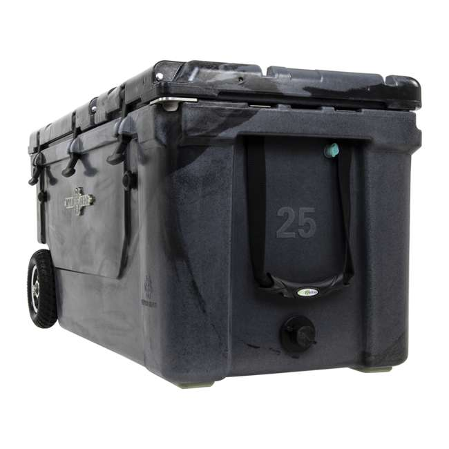 HC75-17SB WYLD 75 Quart Pioneer Dual Compartment Insulated Cooler w/ Wheels, Black/Silver 6
