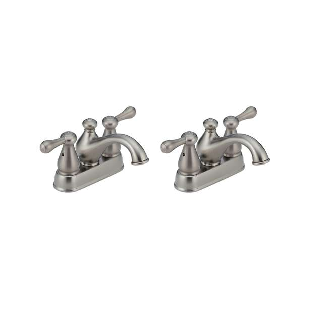 2578LF-SSTP Delta Faucets Leland 2 Handle Centerset Lavatory Faucet (2 Pack)