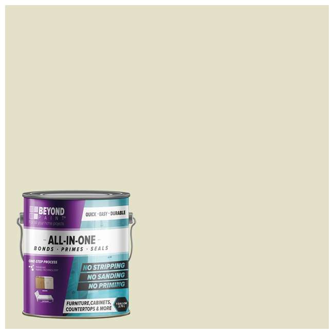 BP18 Beyond Paint 1 Gallon All-in-1 Multi Use Versatile Refinishing Paint, Off White