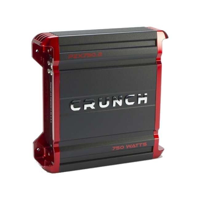 crunch 750 watt 2 channel powerzone car amplifier 8 gauge wiring kit pzx750 2 aks8. Black Bedroom Furniture Sets. Home Design Ideas