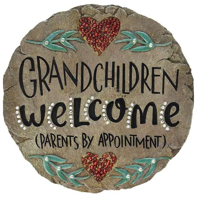 10154 Carson Home Accents 10154 9.5 Inch Resin Grandchildren Welcome Garden Stone