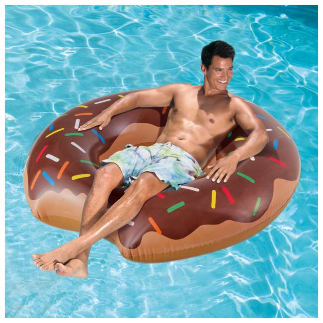 P4A02252B167 + 2 x K10427000167 Summer Waves 22 Ft Above Ground Pool Set + Giant Donut Inflatable Float (2 Pack) 11