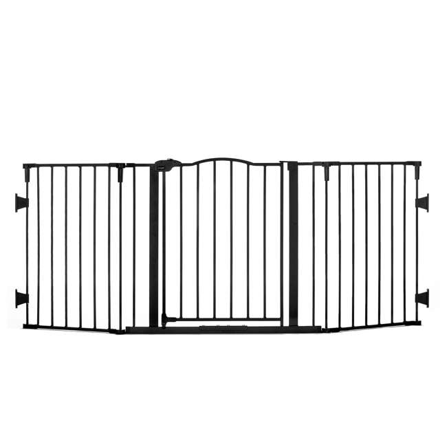 1176 Regalo Home Decor Super Wide Baby Gate, Black