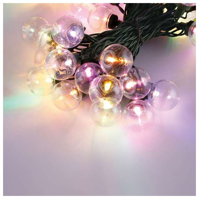 L9300026MU45 Home Heritage Christmas 300 LED Bulb String Light, Clear & Colored (2 Pack) 2