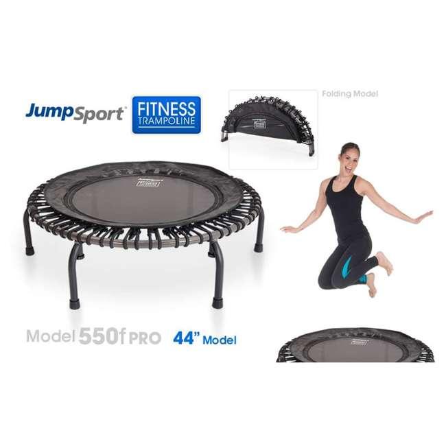 RBJ-S-20665-00 JumpSport 550f PRO Indoor Lightweight 44-Inch Folding Fitness Trampoline, Black 3