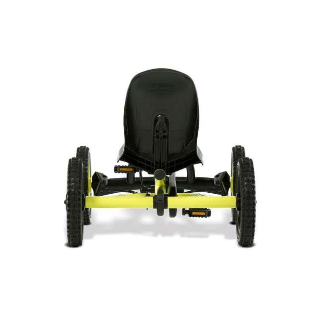 24.20.65.00 BERG Buddy Cross Kids Pedal Go Kart Ride On Toy w/ Axle Steering, Black & Yellow 1