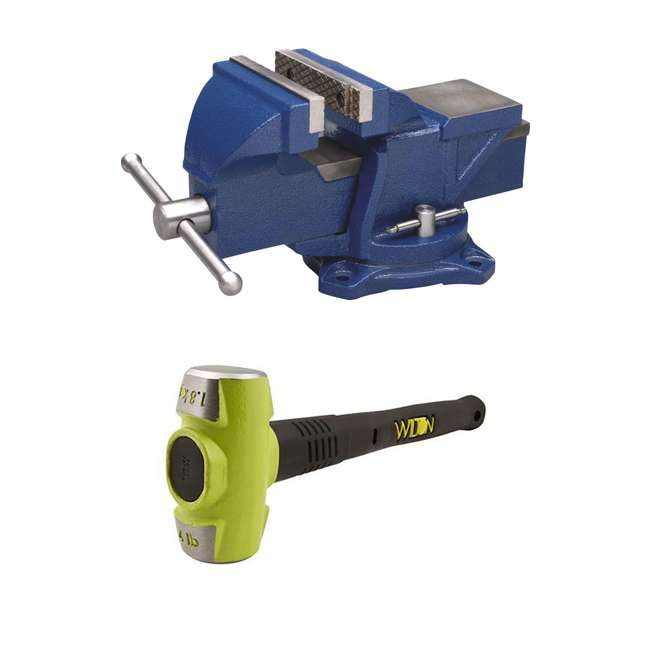 WIL-11104 + WIL-20412 Wilton 4-Inch Jaw Swivel Base Work Bench ViseWilton BASH 4-Pound Steel 12-Inch Sledge Hammer
