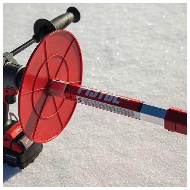 ESK-35600 Eskimo 35600 Ice Fishing 8 Inch Steel Blade Pistol Ice Auger Bit Attachment, Red 4
