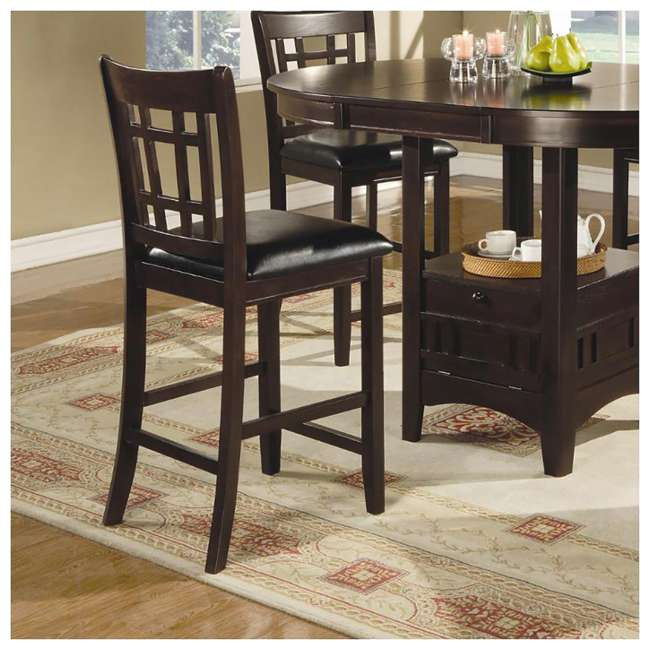 3 x 102889ii-PAIR Coaster Home Furnishings Lavon Hardwood Bar Stool, Black and Espresso (6 Pack) 4