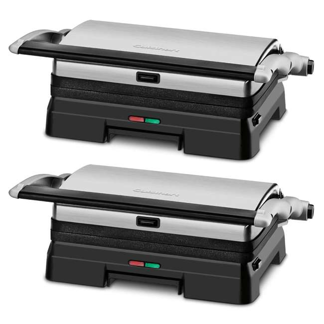 GR-11-RB Cuisinart Stainless Steel Griddler Grill & Panini Press (2 Pack) (Certified Refurbished)