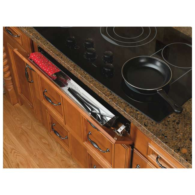 6541-25-52 Rev-A-Shelf 6541-25-52 25 Inch Stainless Steel Slim Tip Out Tray with Hinges 1
