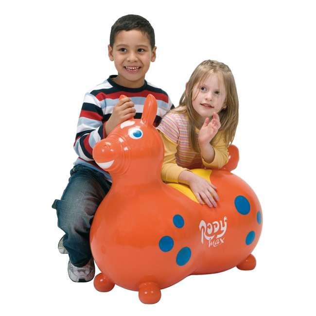 KET-8005 Gymnic 8005 Rody Horse Ride-On Vinyl Toddler Rocking Toy, Orange 1