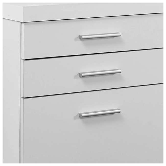 VM-7081 + VM-7048 Monarch 60 Inch Office Computer Desk w/ Filing Drawer & 3 Drawer Filing Cabinet 10