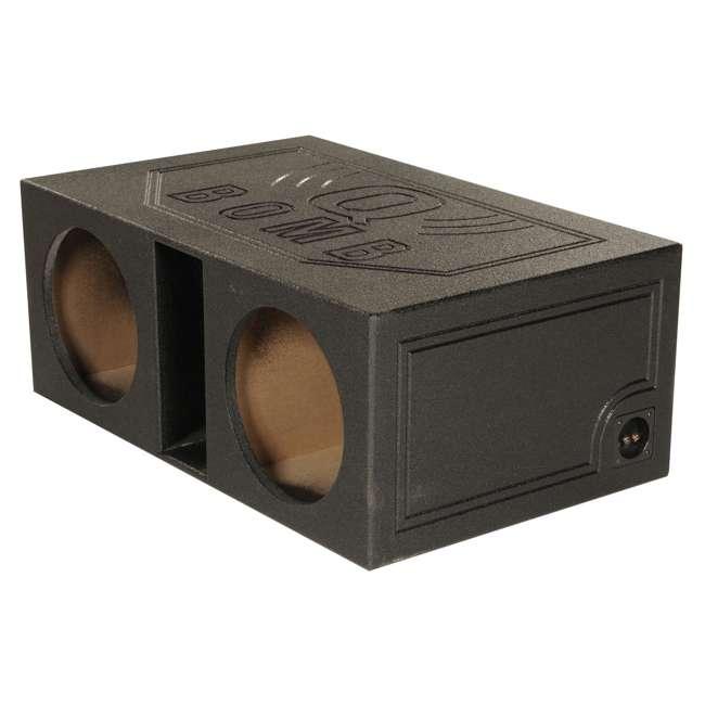 """QBOMB12VL Q-POWER QBOMB12V 12"""" Dual Vented Car Audio Subwoofer Enclosure 2"""